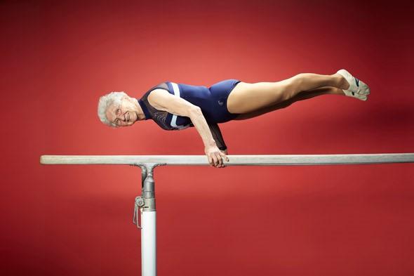 Joahnna Quaas, 90 In 2012, Johanna was recognised by the Guinness Book of Records as the oldest gymnast in the world. She recently attended FIBO and is the face of the Deutschland Trainiert (Germany Works Out) campaign.