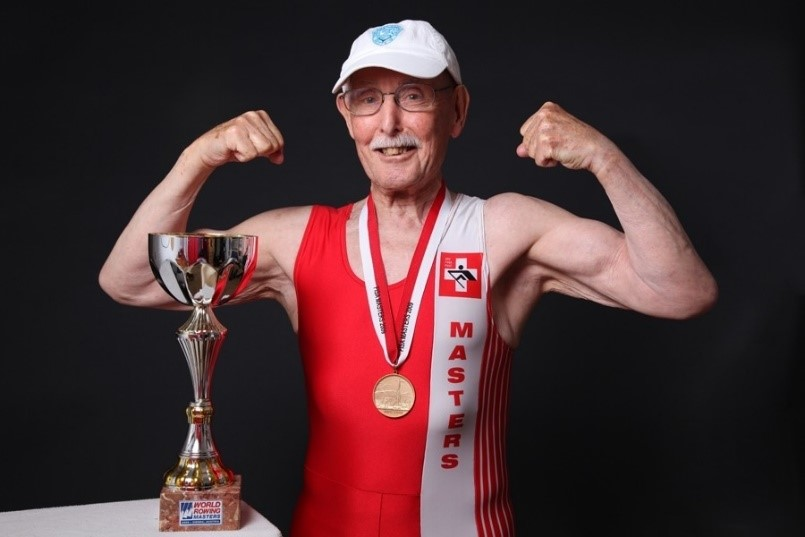 Charles Eugster, 96 Charles is an all-round athlete, especially when it comes to bodybuilding and wake boarding. He also holds world records in sprinting and rowing!