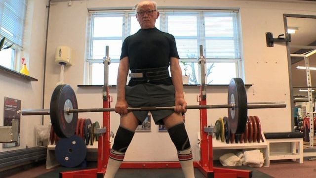 Svend Stensgaard, 93 Svend, from Denmark, is the world's oldest licensed powerlifter and in a recent video is seen to impressively lift 130kg. Suffering a heart attack three years ago hasn't stopped Svend, he is taking part in the upcoming World Championships this year, where he aims to take home the silver award.