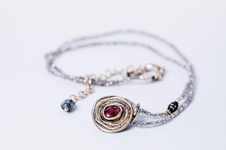 Pink Tourmaline Estrella Necklace