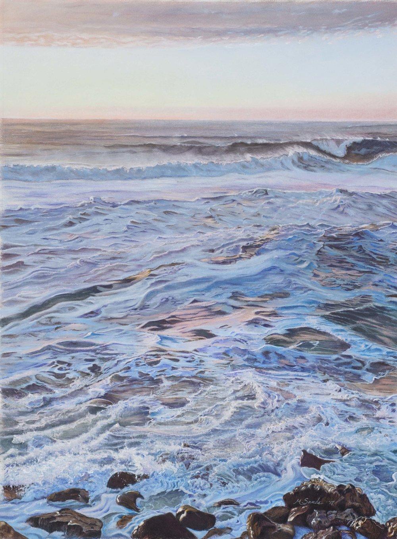 [SOLD] Maribeth Sands - Winter Sunset, Rockaway Beach