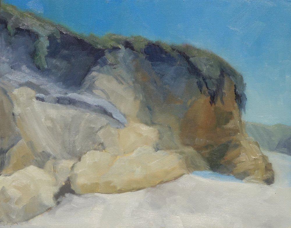Andrea Kosmo - Sandstone Profile, Pescadero State Beach
