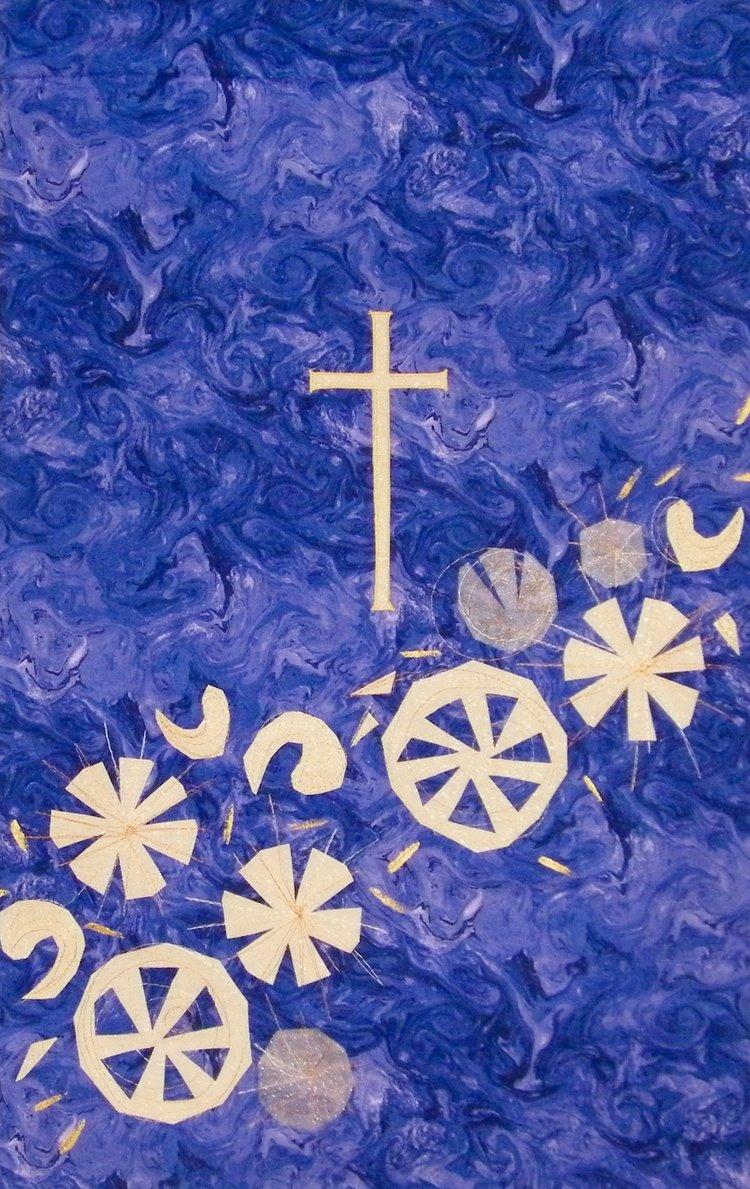 090b74db98 516 Advent-God is light (purple) wall hanging parament Carrot Top ...