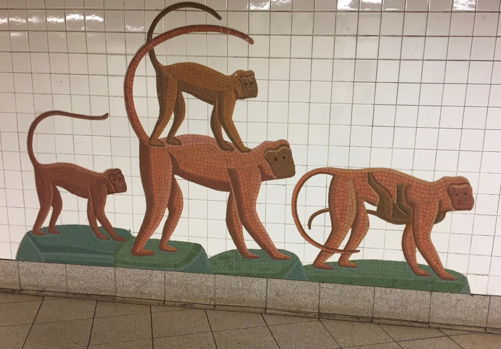 So much art in the subway stations! This was a favorite.