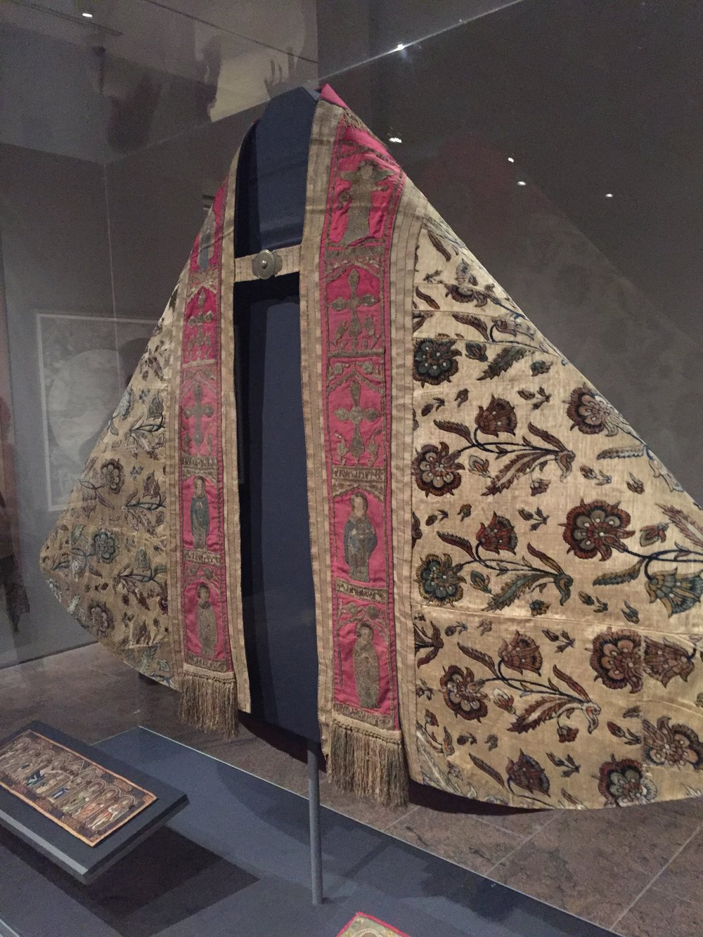 Vestments in the Armenian art exhibit at the Metropolitan Museum of Art.