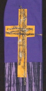 Shadow of the cross stole - We were inspired by the border fabric!