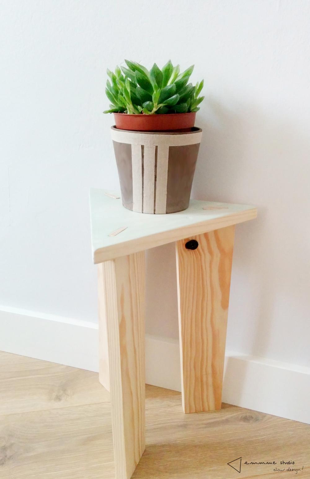 Mesa-taburete Deleite Design. Fotografía emmme studio.