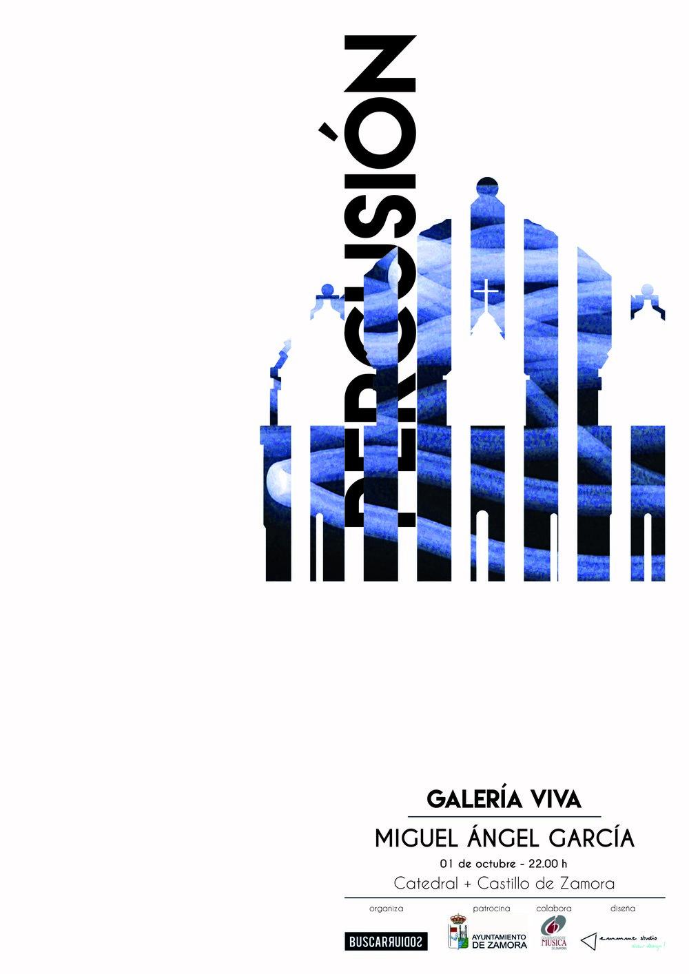 Galería Viva Zamora 2016 - cartel percusión Catedral Zamora.jpg