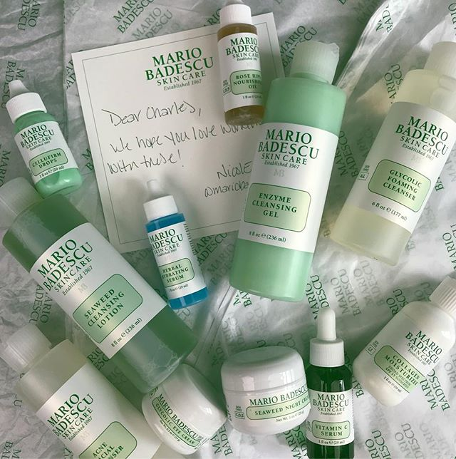 Thank you @mariobadescu for this amazing package of skin care! So grateful for your support 💚💚💚 #mariobadescu  #skincare #skinprep #makeup #makeupkit #makeupstation #taketheplunge #workspace #mua #filmshoot #bts #makeupporn #beauty #makeup #featurefilm #cosmetics