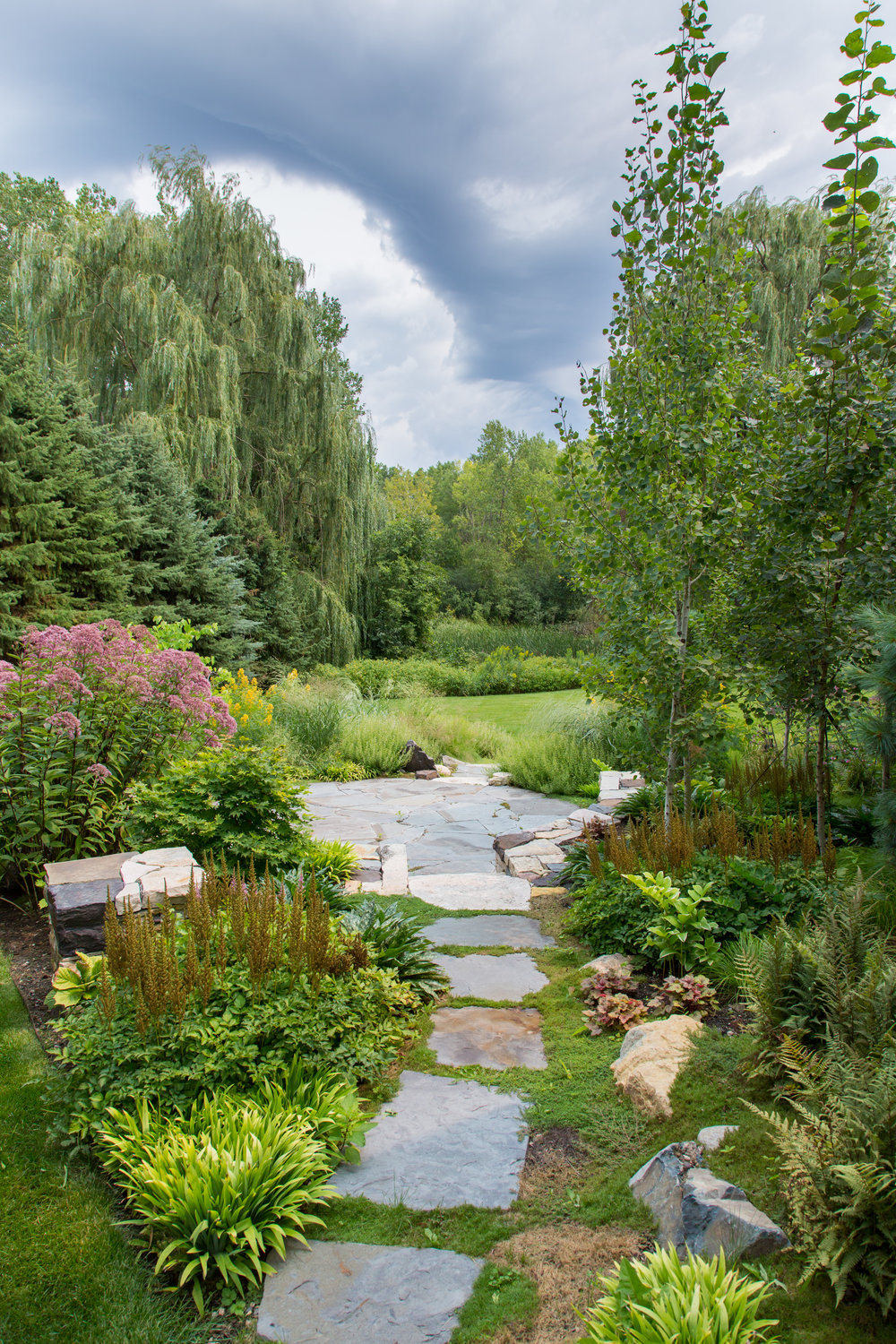 After: A gorgeous view of the seamless transition from the home landscape to its natural surroundings.