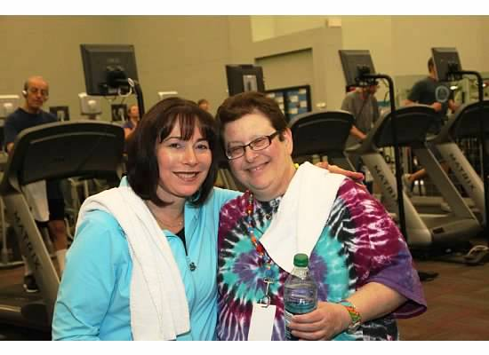 Janis and Caryn at the JCC West Bloomfield