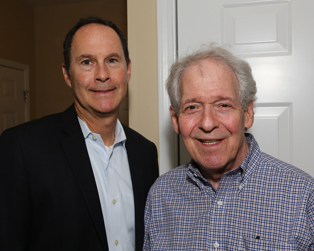 David Carroll, Current JARC Board President with Michael Feldman, Former JARC Board President (from 1986-1989)