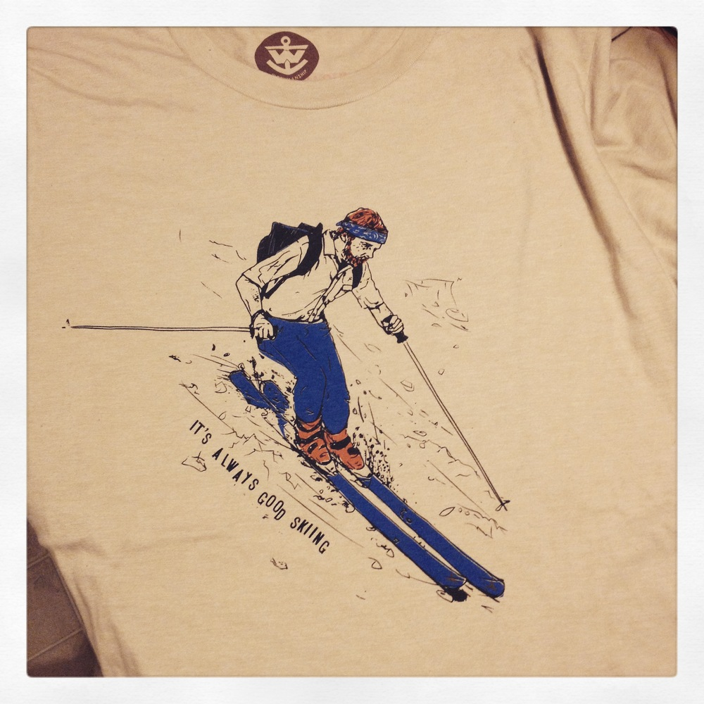 Snowbowl Living Legend tee by Workmanship Co.  3 color Waterbase print.