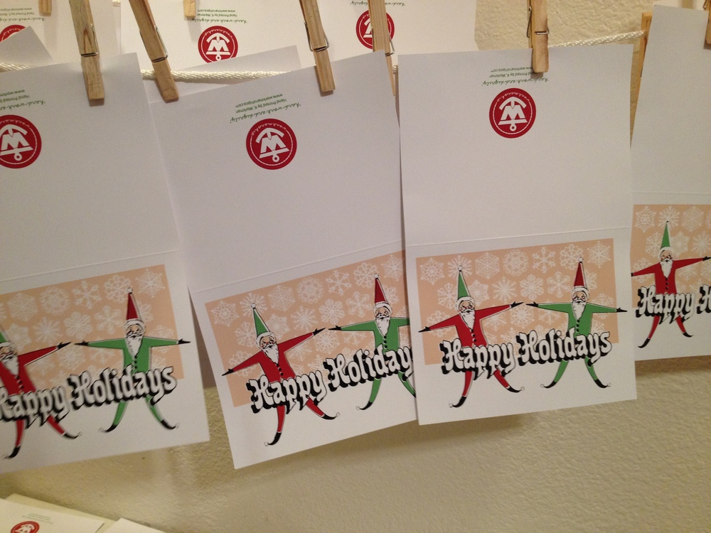 4 color Holiday 2014 cards