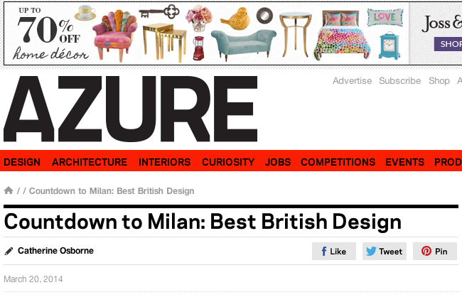 Azure: Best of British design 2014