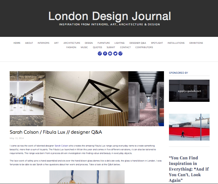 London Design Journal 2014