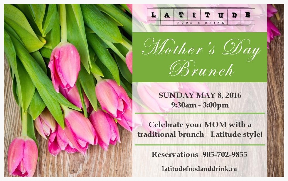 Join us for a traditional brunch off of our a-la-carte menu.  Your mom will delight in the time you spend with her today!
