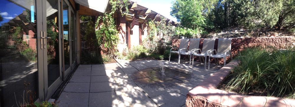 Courtyard with Solar fountain