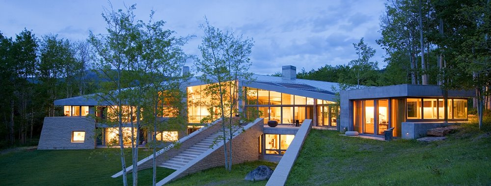 Highlands Pond House    Design Architect:  Antoine Predock Architect   Project Architect:  Graham Hogan, AIA