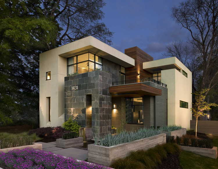 West Architecture Studio Atlanta Modern Homes Warm Modern Home