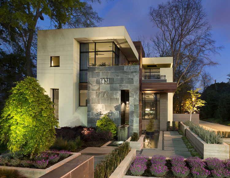 West Architecture Studio Atlanta Modern Homes Warm Modern Home