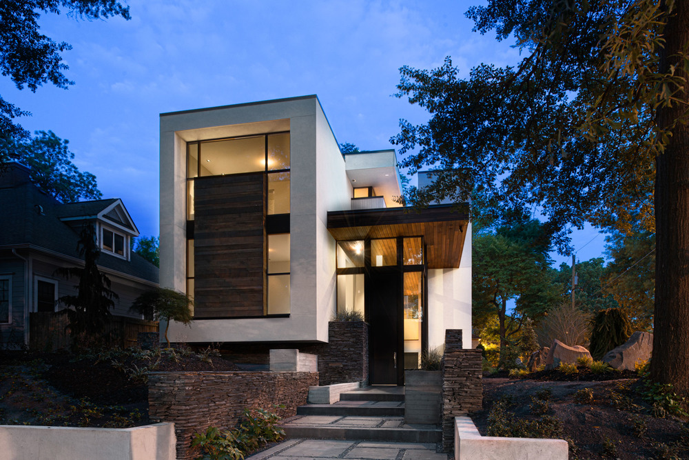 West architecture studio atlanta modern homes modern for Modern residential house