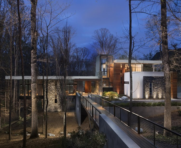 west architecture studio atlanta modern homes bridge house