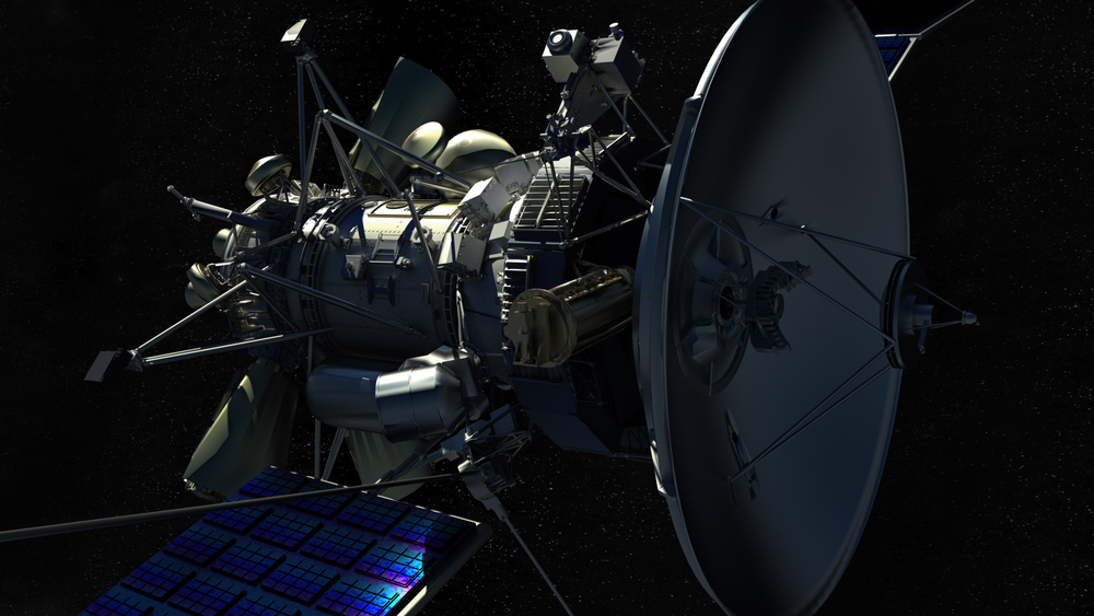Satellite rendered with Cinema 4D and Vray