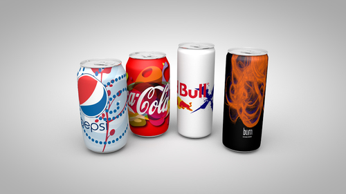 product mockups designed & rendered in Cinema 4D