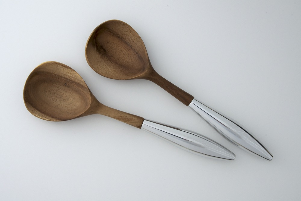 Yaro Salad Servers - Nambe 2008