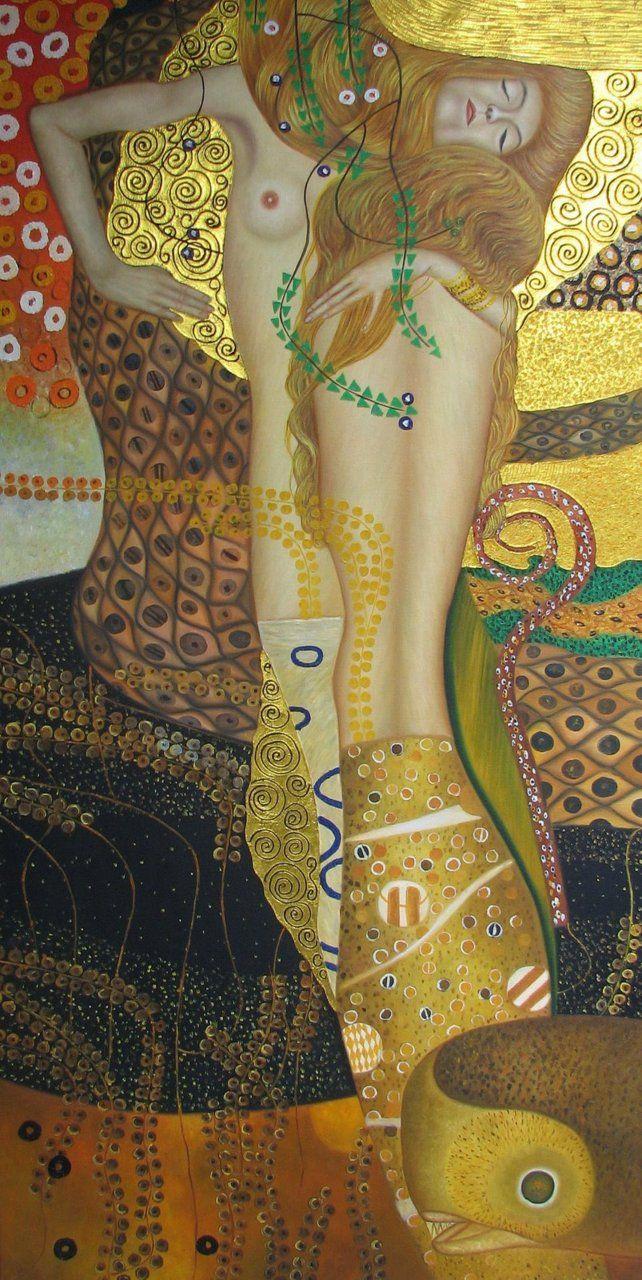 Gustav Klimt, Sea Serpents