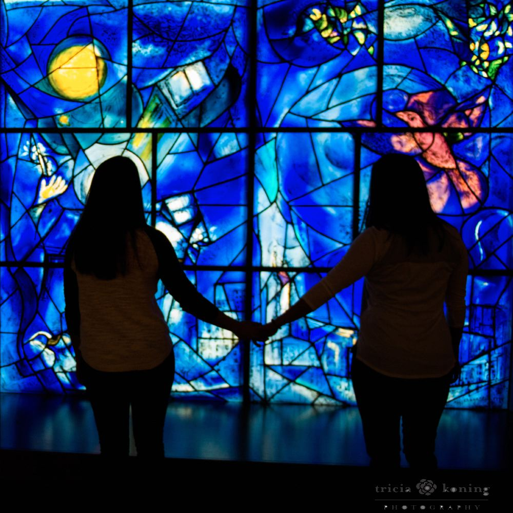 The Chagall windows at the art institute are amazing