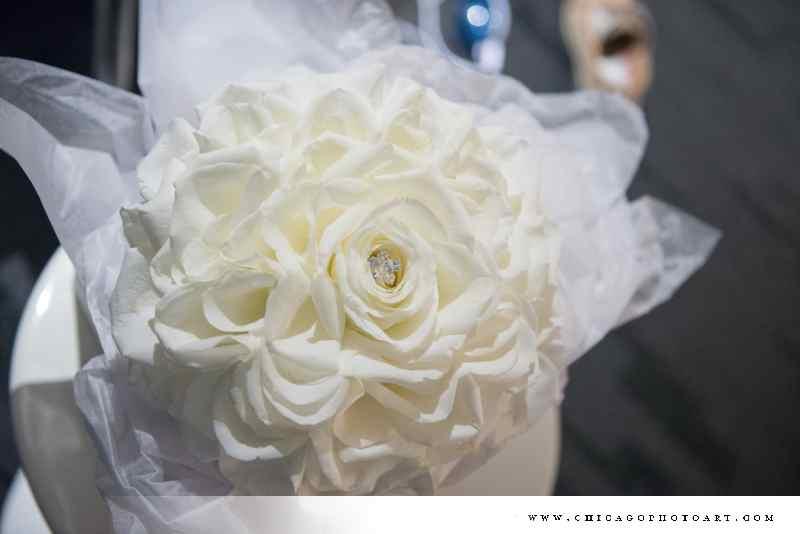 clean crisp white roses