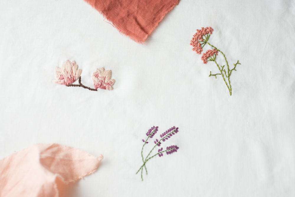 Embroidery Flower Sampler From Making Thread Ladle