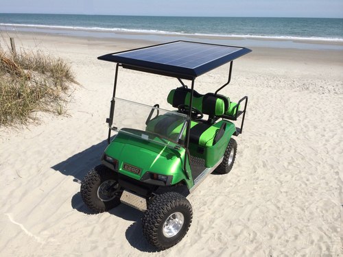 250 watt Solar Roof for Golf Cars — Solar EV Systems - Solar Golf Ezgo Golf Cart Precedent Roofs on radio install golf cart roof, club car roof, ezgo marathon roof, ezgo extended roof, golf cart extended roof, yamaha golf cart roof, custom golf cart roof, universal golf cart roof, 80-inch golf cart roof, rhino golf cart roof,