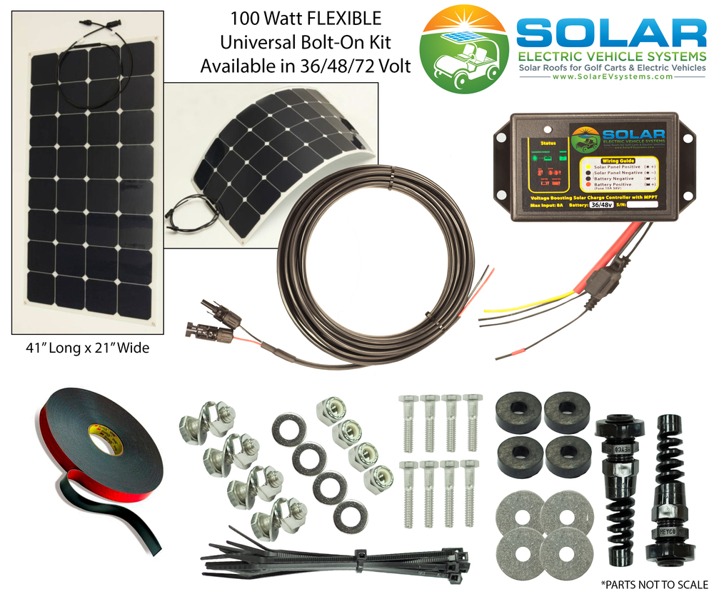100 Watt Flexable Solar Panel Kit Solar Ev Systems