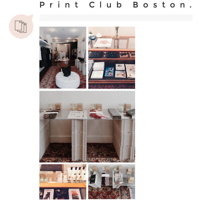 A huge thanks to our new friends at Boston Print Club for the feature on their blog. Take a look at the post here: Boston Print Club