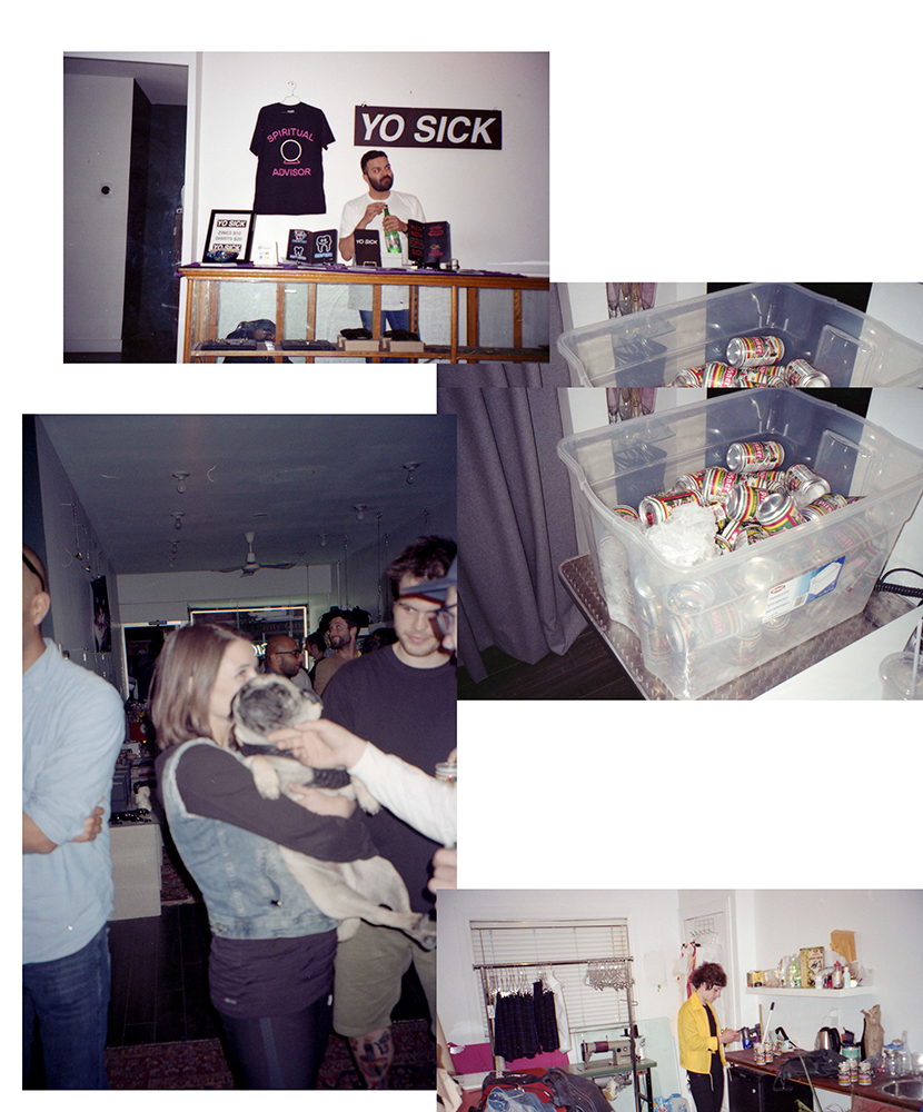 Photos from the Yo Sick NEON  zine release. Check out how cute that puppy is.