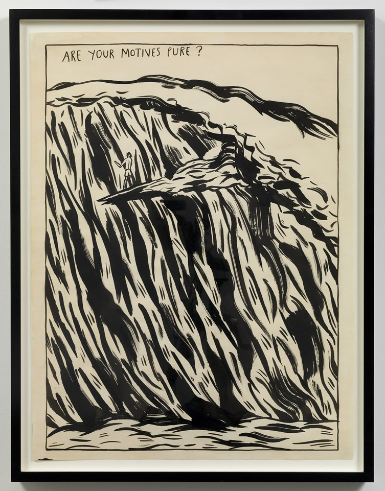 Raymond Pettibon  Untitled (Are your motives pure?)..., 1987