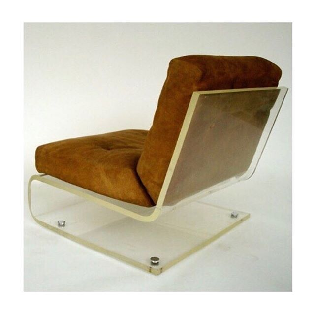 Lucite and suede chair, Jacques Charpentier. 1970. Via @everythingdesignilove 🍩