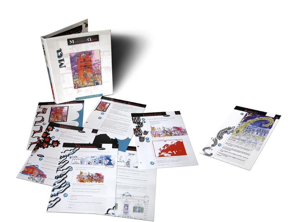 Fichas Material de ayuda escolar, Concejalía de Educación, Ayuntamiento de Paterna, Valencia 2005