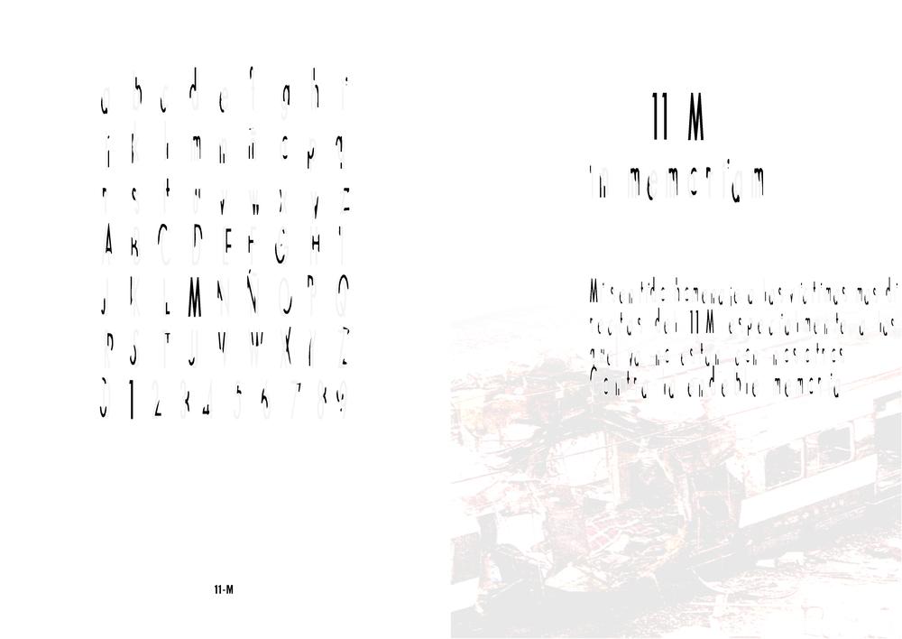 Tipografía 11-M y aplicación, Exposición y Catálogo 'Vaya Tipos! 2' de la Asociación de Diseñadores de la Comunidad Valenciana (ADCV), 2005