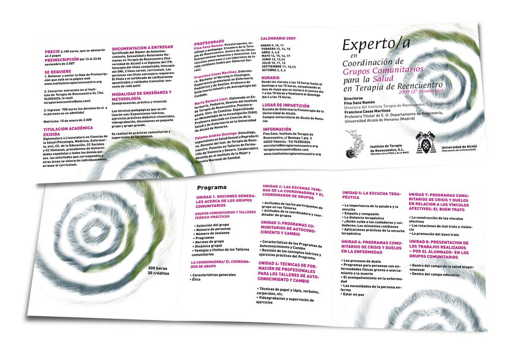 Folleto 'Experto comunitario', Instituto Terapia de Reencuentro, 2009