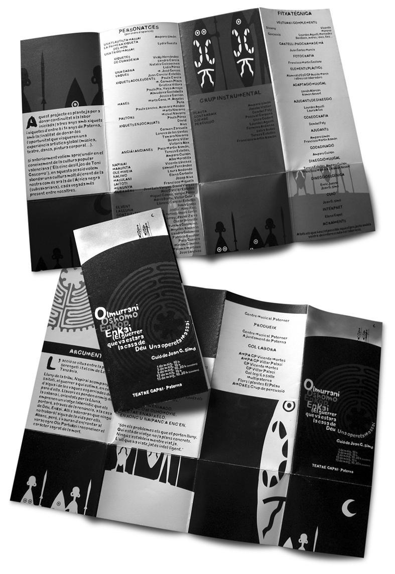 Folleto desplegable para obra teatral Olmurrani, Paterna 2009