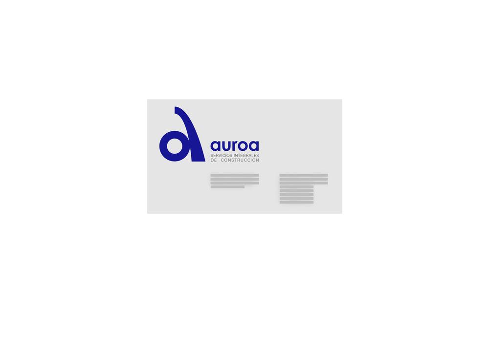 Tarjeta para la empresa Auroa, Servicios Integrales de Construcción