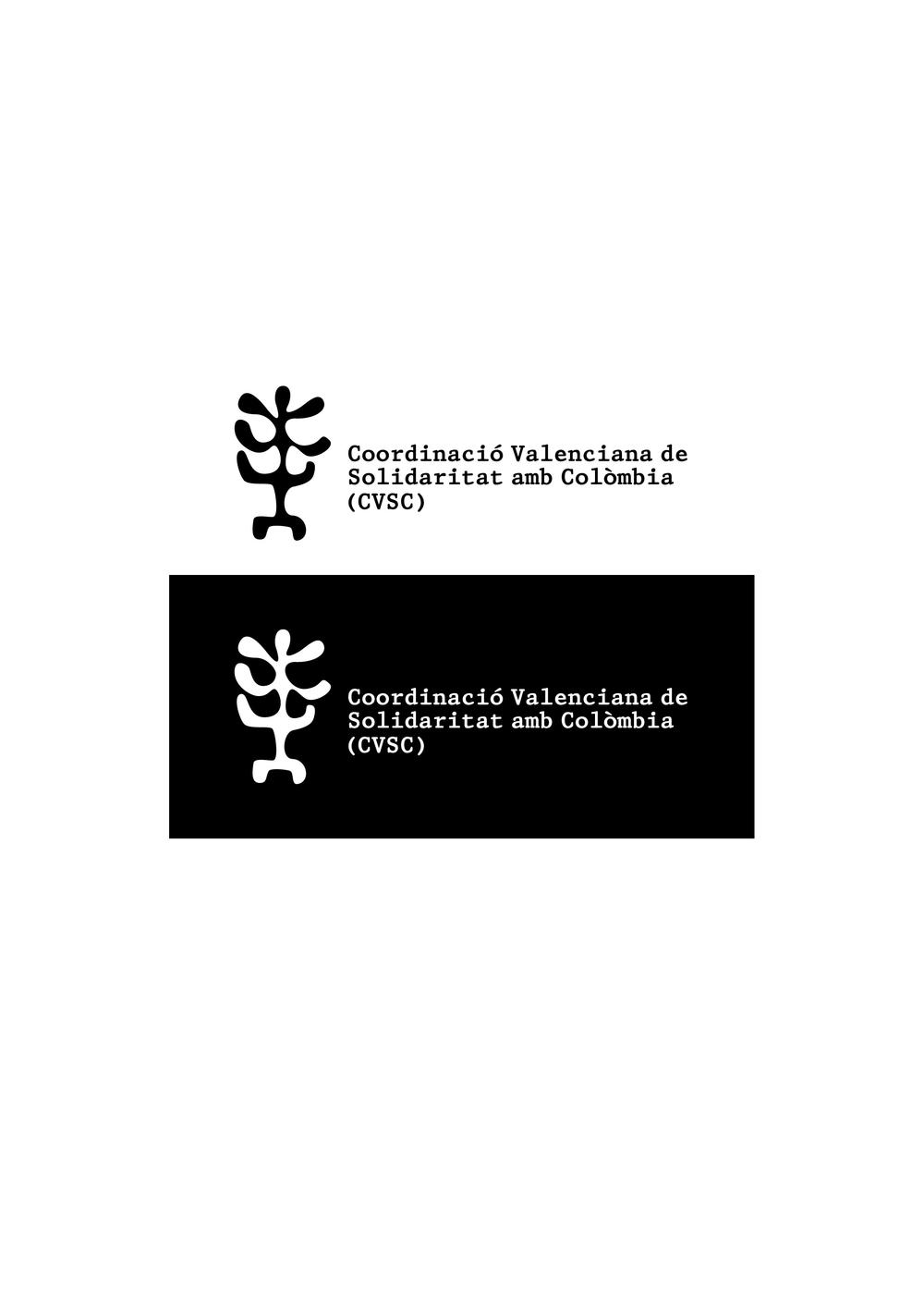 Logotipo para la ONG Coordinació Valenciana de Solidaritat amb Colombia (CVSC)