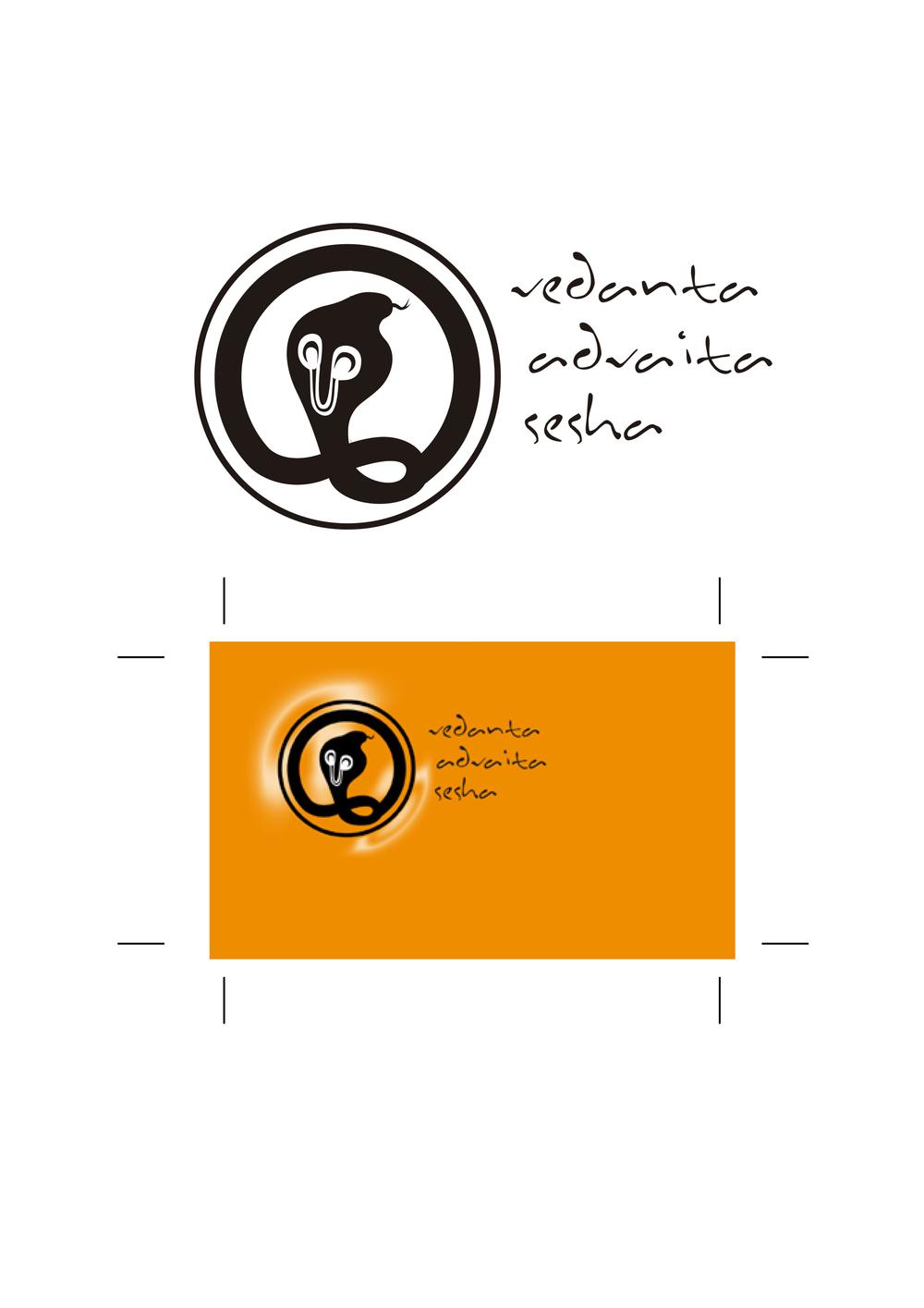 Rediseño de Logotipo y aplicación a tarjeta de visita para Asociación Vedanta Advaita Sesha