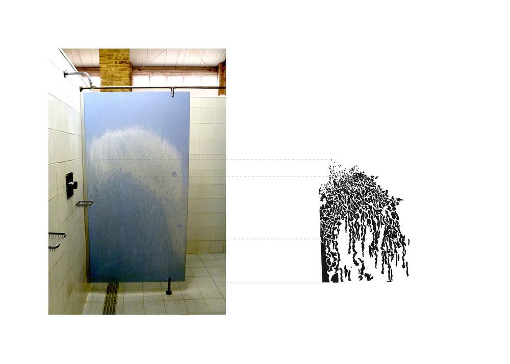 Panel de ducha con ola o sauce