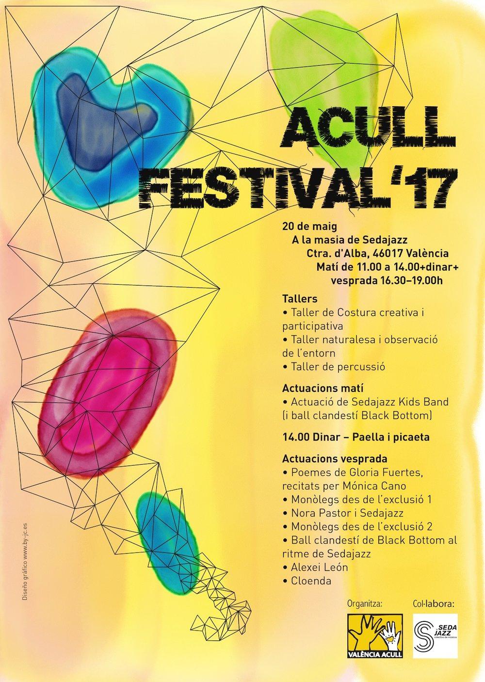 Cartel para el Festival Acull 2017