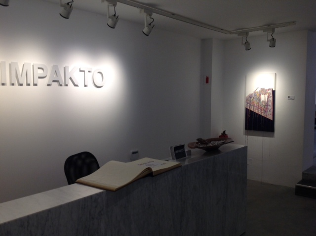 Installation shot of my painting at Galerie Impakto